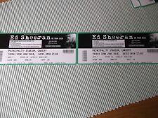 ED SHEERAN 2 used tickets ,22ND JUNE 2018,PRINCIPALITY STADIUM,CARDIFF,(15)