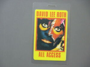 David Lee Roth backstage pass laminated pass Eat 'Em And Smile !