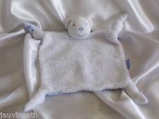 Doudou ours blanc fourrure, dos bleu, Kaloo