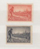 Australia 1934 2d/1/- Victoria Centenary Part Set Perf 10 1/2 MLH  J4240