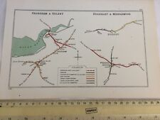 RUNCORN FRODSHAM HELSBY MANLEY INCE NORTON MIDDLEWOOD DOLGELLEY RAILWAY MAP 1914