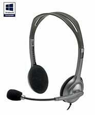 Headphones with Boom Mic for Skype PC/Mac gaming Headset Logitech H110 1X 3.5mm