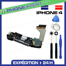 NAPPE DOCK CONNECTEUR DE CHARGE COMPLET+MICRO IPHONE 4 BLANC+NAPPE HOME+OUTILS