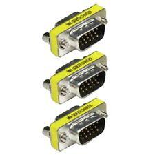 3x DB15 HD VGA/SVGA Male to Female 15pin D-SUB Gender Changer Coupler DB15HD M/F