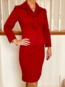 Tahari Deep Red size OP excellent condition $70