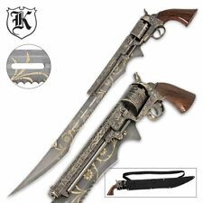Steampunk Sword Sharp Blade Antique Pistol Cosplay Piece Gun Vintage Collectible