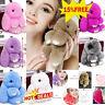 Bunny Keyring Soft Real Fluffy Rabbit Fur HandBag Pendant Charm Pompom Keychain