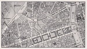 D5868 Rome - Square G.Mazzini And Surroundings - Map Period - 1932 Vintage Map