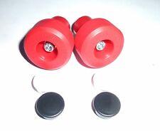 KAWASAKI ZZR600 2005-2007 RED CRASH MUSHROOMS SLIDERS BUNGS BOBBINS   R9D4