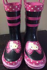 HELLO KITTY Sanrio Rain Boots / Galoshes  ~Girls Size 9/10
