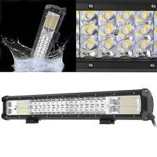 22inch CREE LED Light Bar Triple Row Spot Flood Combo Work Driving 12V 24V 4x4WD