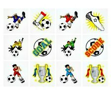 48 boys temporary Football Tattoos party bag filler birthday sticker children