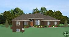 Custom Home House Plan 2,145 Sf Ranch Blueprints 0906
