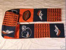 Denver Broncos Football Fleece Scarf