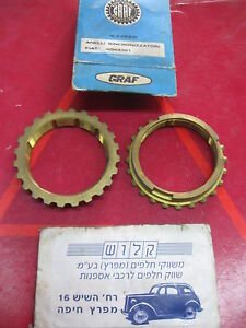 FIAT 1500 1800 2300 GEARBOX SYNCRO RING ( X 2 Pcs ) GRAF 4044321 NOS