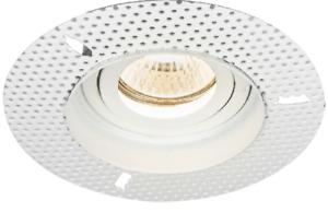 Trimless Downlight Tilt Plaster-In GU10 Adjustable Round Downlight IP20