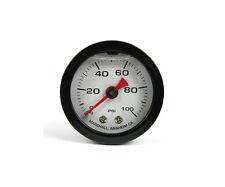 "Marshall Gauge 0-100 Psi Fuel / Oil Pressure White & Black 1.5"" (Liquid Filled)"
