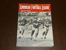 1967 TSN SPORTING NEWS AFL FOOTBALL LEAGUE GUIDE EX