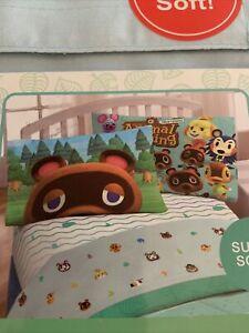 Animal Crossing Horizons Super Soft Twin Bed Sheet Set New