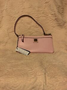 Dooney And Bourke Genuine Leather Pink Wristlet