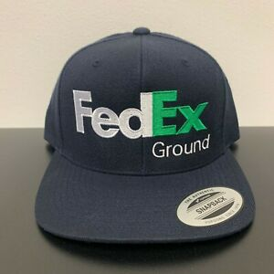 FedEx Ground Snapback Hat Cap Yupoong Adjustable
