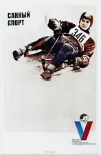 Original vintage poster SKELETON RACE RUSSIA WINTER SPORTS 1973