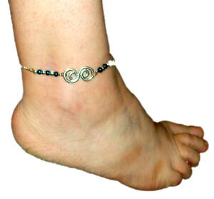 Pretty silver metal ankle chain with extension (02)