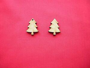 2.5cm / 25mm  MDF CHRISTMAS TREE x 50  LASER CUT SHAPE