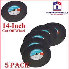 5 Pack Makita Chop Saw Metal 14 Inch Cut Off Blade Cuts Steel Angle Iron