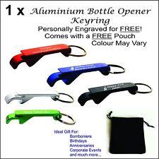 Custom Engraved Personalised Metal Keyring Bottle Opener Gift Wedding Bomboniere