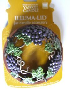 Yankee Candle ViINEYARD GRAPES LEAVES Illuma Lid Topper New Rare Free Shipping