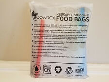 4 count Reusable Silicone Food Storage Bags Eqowoox * NEW BPA FREE
