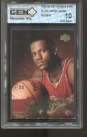 2003-04 Lebron James UD Lebron's Diary #LJ10 Gem Mint 10 RC Rookie LA Lakers
