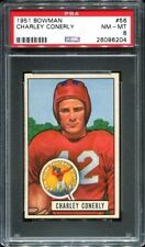 1951 Bowman #56 Charley Conerly PSA 8 New York Giants -