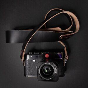 Leather Camera Strap 100cm   110cm   120cm (stitched) - Horween Chromexcel