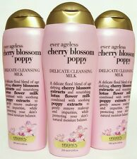 (3 Pack) Organix Ever Ageless Cherry Blossom Poppy Delicate Cleansing Milk 6.8oz