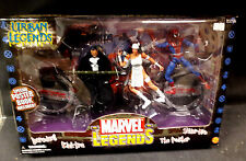 TOY BIZ MARVEL LEGENDS URBAN LEGENDS 4 FIGURE BOX SET SPIDER-MAN PUNISHER DISNEY