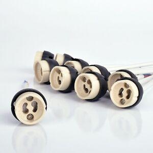 5 10 20 50 SET GU10 Fassung Sockel Brandschutz 230V fur LED und Halogen Keramik