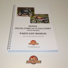 Honda CB250 CB350 CL250 CL350 K2 1970s Parts List Book, Reproduction. HPL018