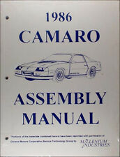 1986 Chevy Camaro and Z28 and IROC Factory Assembly Manual Chevrolet useful 1985