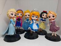 6pcs Cute Mini Princess Action Figures Changed Dress Doll Kids Boy Girl XmasToy