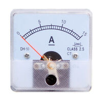 1PC Class 2.5 Analog Panel AMP Current Meter DC 0~15A Ammeter DH-50