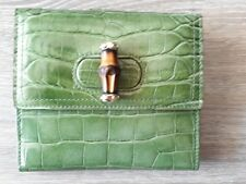 'Neu ' Orig. Gucci Geldbörse Bamboo, wallet Krokodil Leder in OVP Alligator