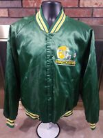 Green Bay Packers Vintage Satin Snap Jacket Chalk Line Mens Size XL NFL Football