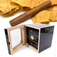 Low-key Luxury Cigar Humidor Cedar Lined 3 layer Drawers w/Humidifier Fit COHIBA