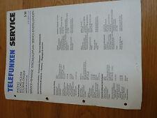 Telefunken S50 Phono Record Player Turntable Original Service Manual