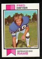 "1973 Topps #389 Fred Dryer Los Angeles Rams Football Card  ""mrp""  NM"