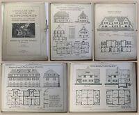 Schmidt Ländliche und Städtische Kleinwohnungen 1912 50 Tafeln Architektur xz