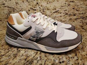 Polo Ralph Lauren Trackstar 100 P Wing Sneakers Gray White Shoes Men's SZ 9.5 D