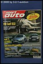Sport Auto 9/06 VW Golf R32 Audi S6 Opel Astra GTC